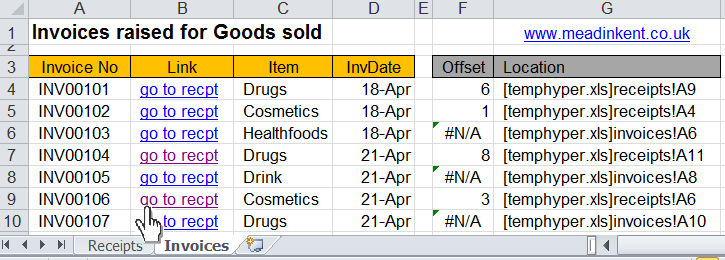 Excel - Hyperlink navigation and macro buttons